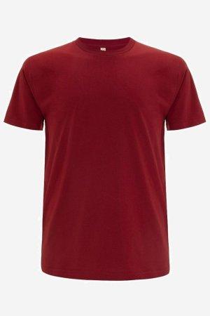 t-shirt herr-unisex mörkröd