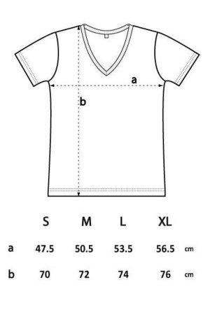 t-shirt v-ringad herr storleksguide