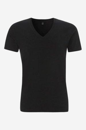 t-shirt v-ringad herr svart