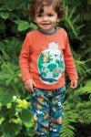 Barntröja applikation jorden rödorange, 0-4 år