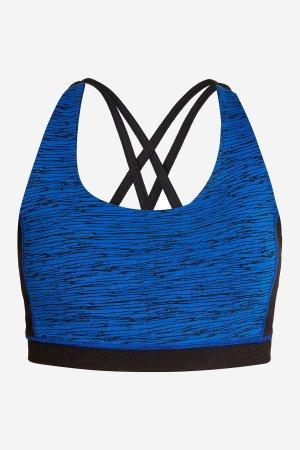 BH sport/yoga korsad rygg blå abstrakt