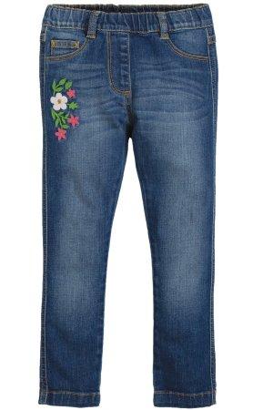 Jeans barn broderade blommor, 4-10 år