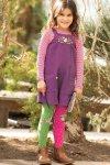 Korta snickarbyxor barn manchester lila, 3-10 år