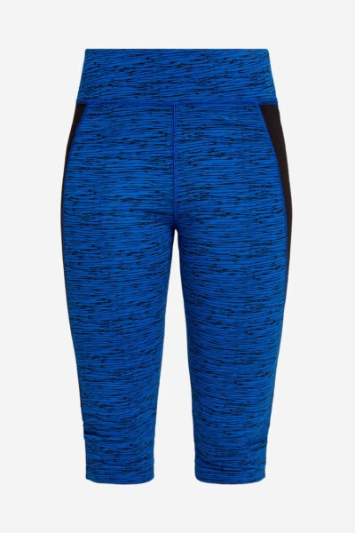 Leggings sport/yoga blå abstrakt