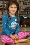Pyjamas barn applikation husvagn & stjärnor, 8-9 år