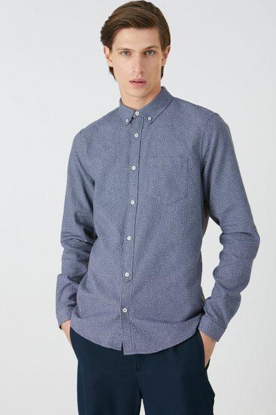 skjorta toaarben blå modell