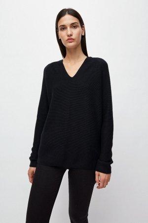 tröja stickad faarina svart modell