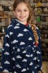 badrock barn blå/vit moln modell