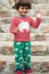 barntröja applikation flodhäst röd/vit randig modell