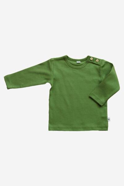 barntröja enfärgad grön