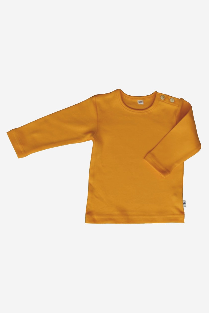 barntröja enfärgad gul