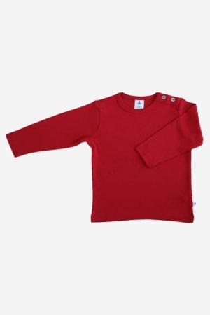 barntröja enfärgad röd