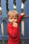 barntröja röd modell