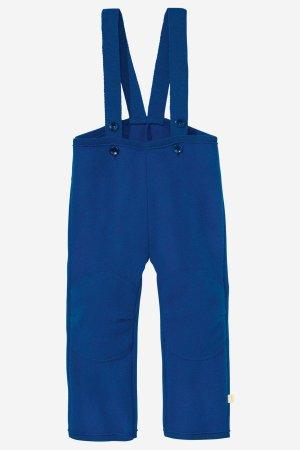 byxor hängselmodell filtad ull baby/barn marinblå