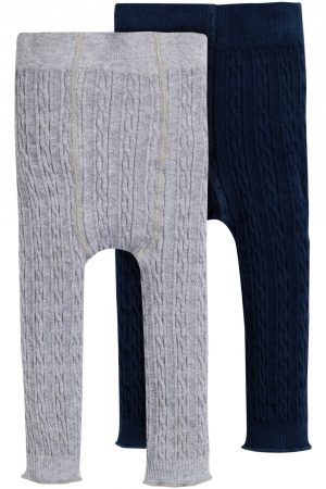 kabelstickade leggings baby & barn 2-pack