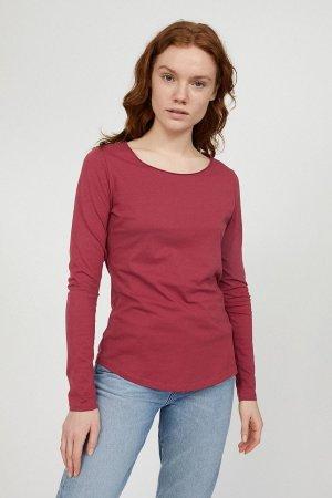 långärmad tröja rojaa vinröd modell