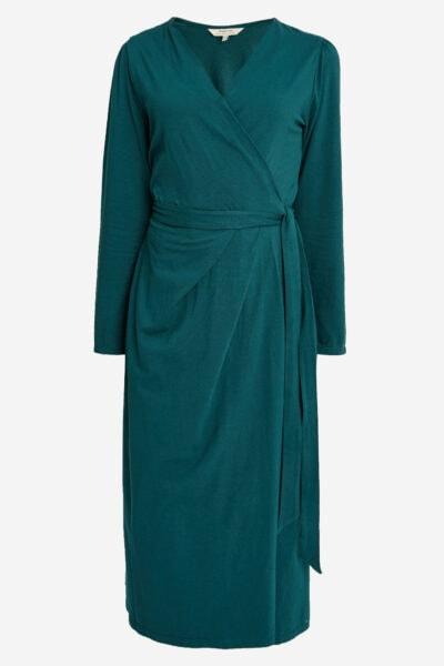 omlottklänning Imogen petrolgrön
