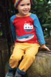 tröja baby & barn raglanärm applikation båt & val modell