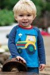 tröja baby & barn raglanärm applikation traktor modell