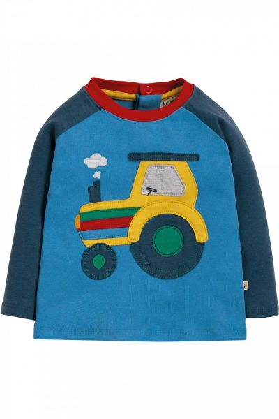tröja baby & barn raglanärm applikation traktor