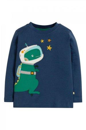 tröja barn applikation rymd-dinosaurie