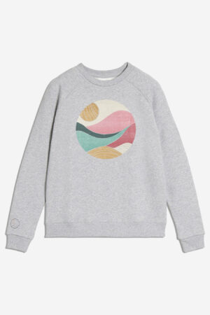 tröja sweatshirt roaamy gråmelerad