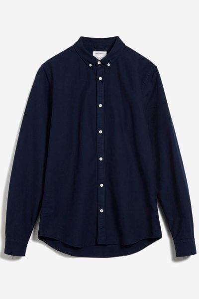 skjorta klassisk marinblå