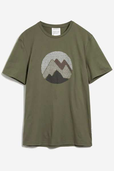 t-shirt mountain JAAMES kaki