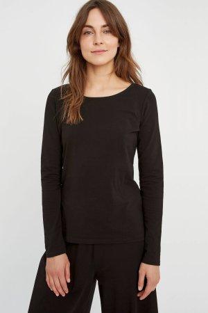 tröja basic rundhals svart modell