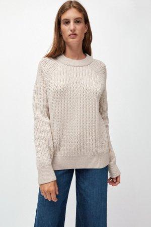 tröja ribbstickad hinaa ullmix modell