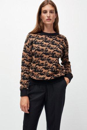 tröja stickad peetjaa wild horses modell