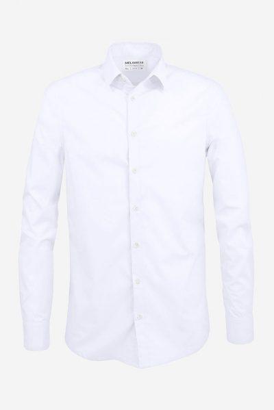 skjorta slimfit vit