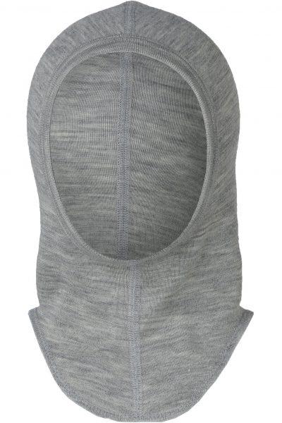 väpnarluva/balaclava baby/barn ull/silke gråmelerad