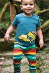 Byxor barn mjukis regnbåge & Barntröja kortärm applikation lastbil tippflak modell