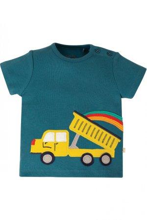 Barntröja kortärm applikation lastbil tippflak