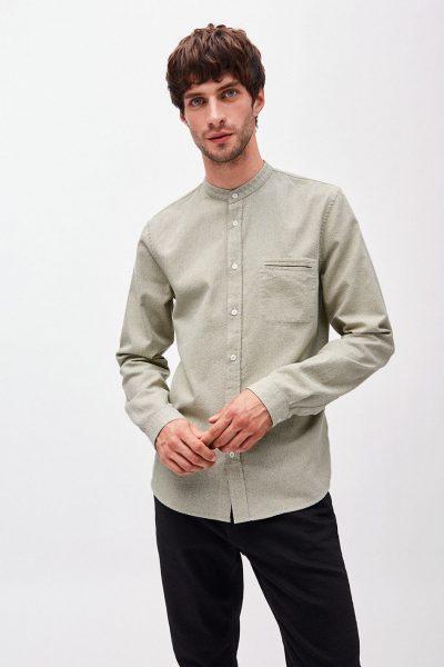 Skjorta emilkrage LITAA grön