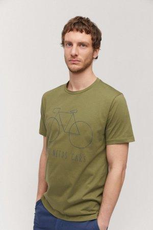 t-shirt big bike jaames grön modell