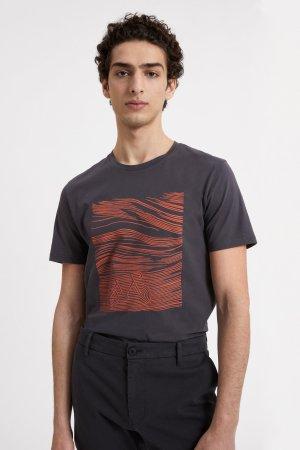 t-shirt cykellandskap jaames morkgrå modell