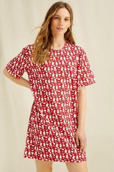 klänning kortärmad moomin family modell