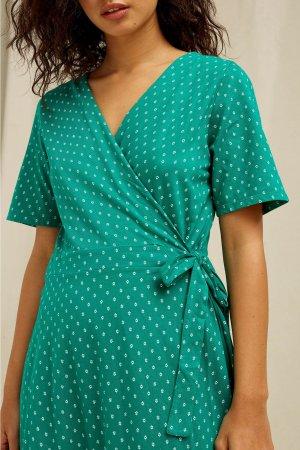 klänning omlott ria modell detalj