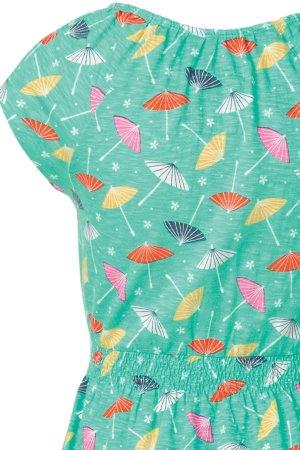 Smockklänning parasoller tyg