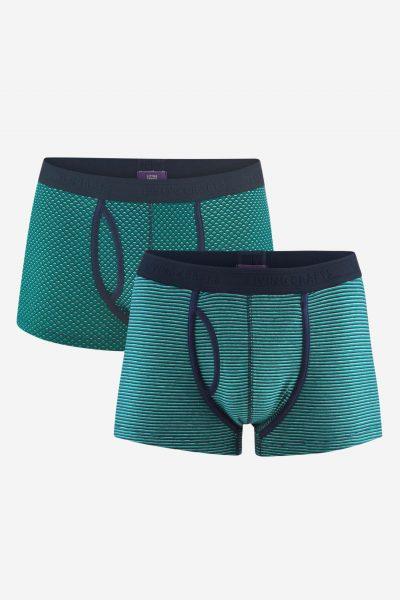 kalsonger boxer grön/marinblå 2-pack