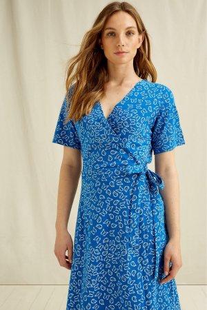 klänning omlott RIA blå modell