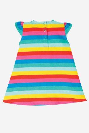 barnklänning kortärm applikation enhörning baksida