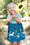 barnklänning kortärm solrosor och enhörningar modell