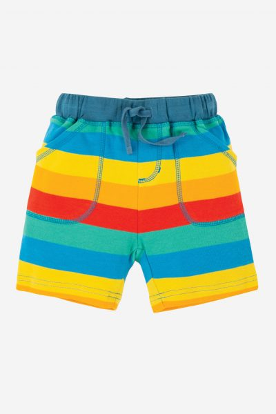 Little Stripy Shorts, Multi Rainbow Stripe, 0-4 år
