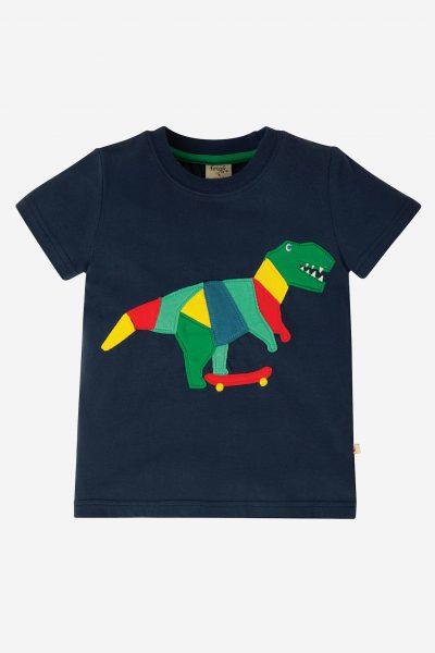 barntröja kortärm applikation dinosaurie