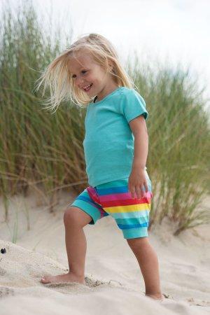 barntröja kortärm turkos modell