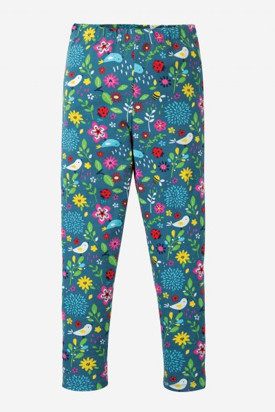 leggings barn blommiga