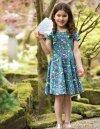 snurrklänning barn kortärm blommig modell